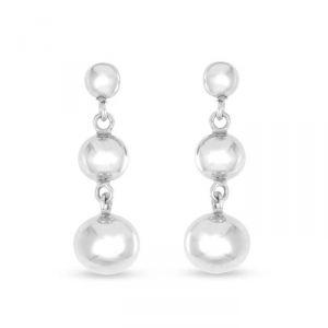 Rêve de diamants BOMB01026 - Boucles d'oreilles en argent et perles de culture