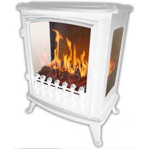 Chemin'Arte Fire Glass - Cheminée électrique 2000W avec flamme 3D