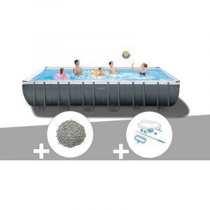 Intex Kit piscine tubulaire Ultra XTR Frame rectangulaire 7,32 x 3,66 x 1,32 m + 20 kg de zéolite + Kit d'entretien