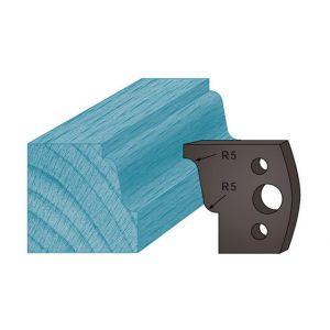 Diamwood Platinum Jeu de 2 contre-fers profilés Ht. 38 x 4 mm doucine A31 pour porte-outils de toupie