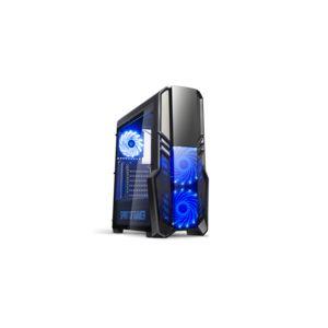 Spirit of Gamer Rogue II - Boîtier Moyen Tour Noir avec fenêtre en verre trempé
