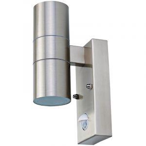 Bentley Charles - Lampe murale double - détecteur mouvement - acier inoxydable