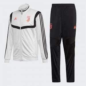 Adidas Juventus Survêtement de Football en Polyester pour Homme M Blanc/Noir