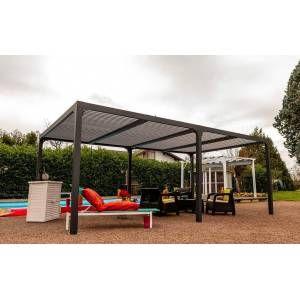 Habrita Pergola Bioclimatique Lames Orientables en Aluminium 21 m²