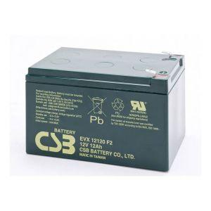 CSB battery Batterie au plomb 12 V 12 Ah EVX 12120 plomb (AGM) (l x h x p) 151 x 100 x 98 mm connecteur plat 6,35 mm résistant aux cycles de charge, sans
