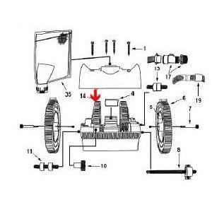 Procopi 1021008 - Pneu pour carrelage sans ergot de robot Victor