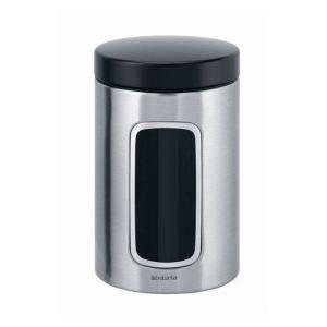 Brabantia 299247 - Boîte à café en inox (1,4 L)