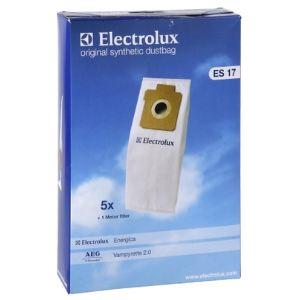 Electrolux ES17 - 5 sacs synthétiques + 1 filtre d'origine pour aspirateurs