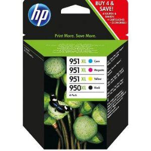HP C2P43AE - Combo Pack cartouche d'encre 950XL/951XL noire et couleur (cyan, magenta, jaune)