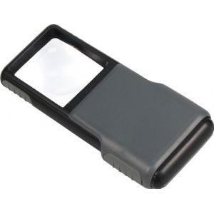 Carson MiniBrite Loupe De Poche Asphérique Avec Fonction Éclairage Par LED Et Couvercle De Protection Grossissement 5x