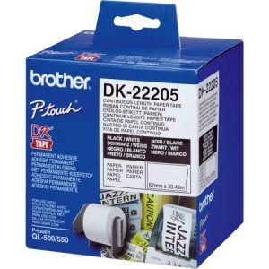 Brother DK-22205 - Ruban papier continu thermique 6.2 cm x 30.5 m