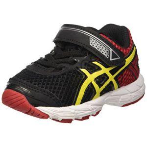 Asics Gt-1000 4 TS, Chaussures de Gymnastique mixte bébé, Multicolore (Black/Flash Yellow/Racing Red 9007), 19.5 EU