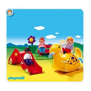 Playmobil 6748 - 1.2.3 : Enfants et aire de jeux