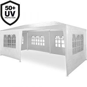 Deuba Tonnelle Rimini blanc Tente de réception 3x6m Chapiteau Tente de jardin Pavillon