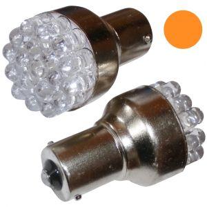 Aerzetix : 2x ampoule 24V P21W R10W R5W 19LED ambré pour camion semi-remorque porte de garage portail