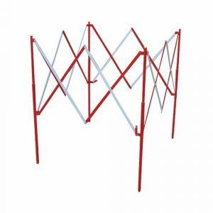 Viso Barrière carrée extensible acier rouge/blanc