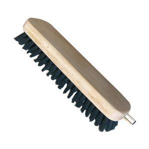 Domergue Brosse à vêtements droite monture en bois (18 cm)