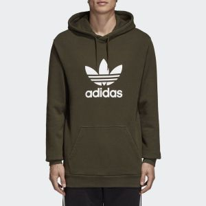 Adidas Sweat-shirt SWEAT TREFOIL HOODIE / KAKI Autres - Taille EU S,EU M,EU L
