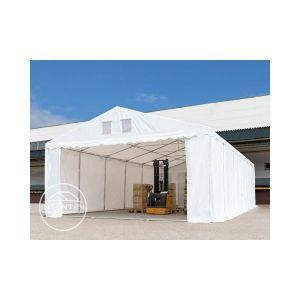 Intent24 TOOLPORT abri tente de stockage 6x8 m PVC env. 550g/m², H. 2,6 m vert foncé