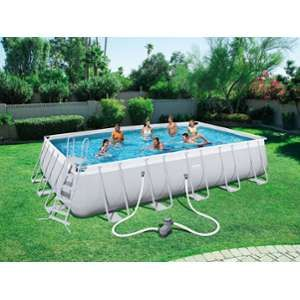 Bestway Kit Piscine Rectangulaire Steel Pro Frame Pools L 6,71m x l 3,66m