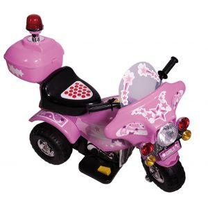 Rusher Moto de police électrique 1 place - Rose