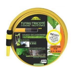 Cap Vert Tuyau tricoté 3 couches TP équipé Longueur 20 m Diamètre 19 mm
