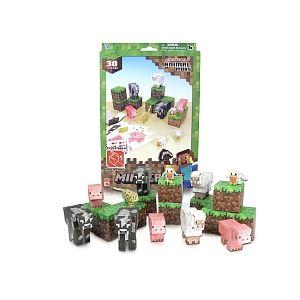 Jazwares Minecraft Papercraft : Animal Mobs 30 pièces