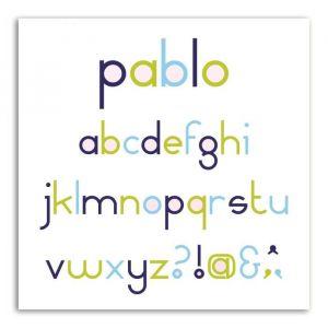 Toga D'cos Set Alphabet Pablo (8 Dies;1.3 Cm)