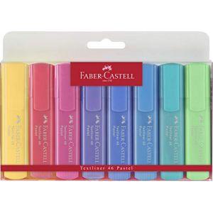 Faber-Castell Surligneur TEXTLINER 1546 PASTEL, étui de 8 - Lot de 3