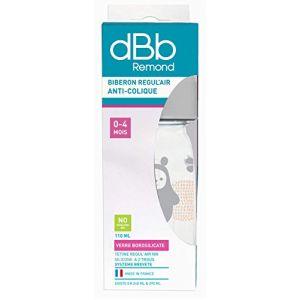 dBb Remond Biberon Regul'Air en verre avec tétine en silicone 110 ml