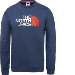 The North Face Drew Peak Crew Sweat-Shirt Homme, Bleu (Urban Navy/Fiery Red), M