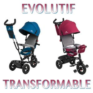 Kinderkraft Trike Tricycle SWIFT 3 roues 1-5 ans enfant bébé poussette evolutif smart rouge