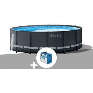 Intex Kit piscine tubulaire Ultra XTR Frame ronde 5,49 x 1,32 m + Bâche à bulles