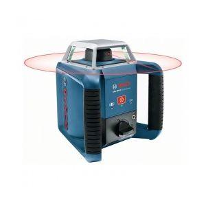Bosch Coffret Laser rotatif de portée 400m à mise à niveau automatique horizontale GRL 400 H mire et trepied inclus 06159940JY