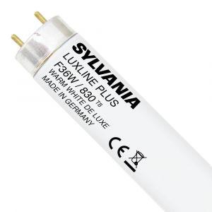 Sylvania Tube fluocompact Luxline T8 - 36 W - 1.20 m - blanc chaud - 3 000 K - boîte - Fluocompacte stick, tube