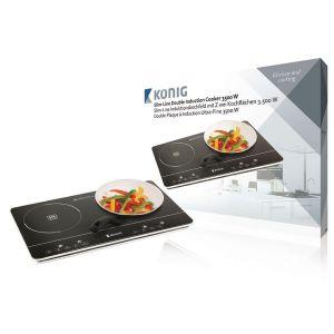 König KN-INDUC-30 - Table de cuisson à induction double
