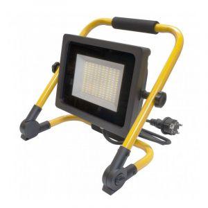 Ecolife Lighting Projecteur LED de chantier avec 2 mètres de câble - 50W - IP65 - WAVE - Blanc Pur