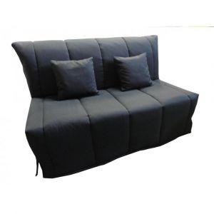 Inside75 Canapé BZ convertible FLO noir 160*200cm matelas confort BULTEX inclus