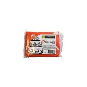 Patisdécor Pâte à sucre orange goût marshmallow (250g)