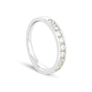 Rêve de diamants 3612030067488 - Alliance en or blanc sertie de diamants