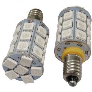 Aerzetix : 2x Ampoules E10 27led Smd 12v Lumière Jaune Ambrée C17030 - Neuf