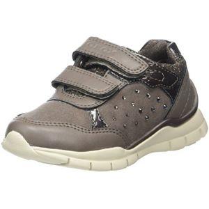Geox J Sukie B, Sneakers Basses Fille, Beige (DK Beige), 35 EU