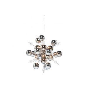 Kare Design Sidonie - Lampe suspendue VM argentée en fer