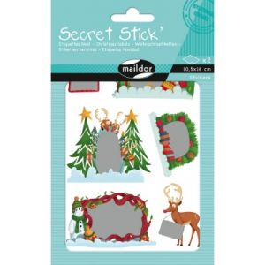 Maildor Stickers étiquettes Secret Stick' Noël