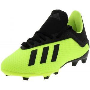 Adidas Chaussures de foot enfant X 18.3 FG J Scarpini Calcio Bambino Verde Fluo DB2418