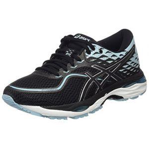 Asics Gel-Cumulus 19, Chaussures de Running Femme, Noir (Black/Porcelain Blue/White 9014), 42 EU