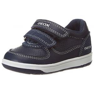 Geox B New Flick Boy B Sneakers Basses bébé garçon, Bleu (Navy) 25 EU