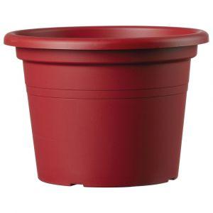 Deroma Pot Farnese - 35x35x24,6cm - 14l - Rouge griotte - Plastique injecté - Résistant au gel, résistant aux UV, recyclable, modèles déposés