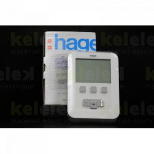 Hager EK520 - Thermoflash digital 2 fils à pile 7 jours