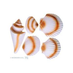 5 fruits de mer en plastique 3D